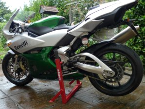 abba Superbike stand on Benelli Tornado