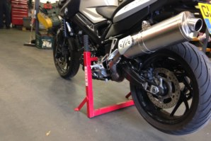 abba motorbike stand on BMW F800R