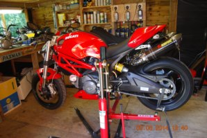 Ducati Monster on abba Sky Lift