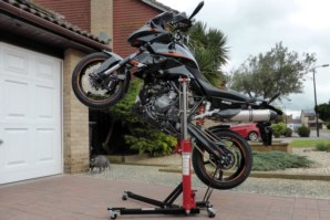 KTM 990 Superduke on abba Sky Lift