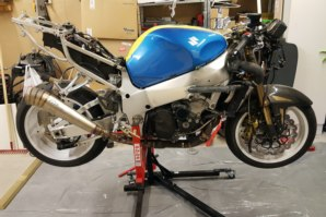 Rebuild time! GSXR on abba Sky Lift